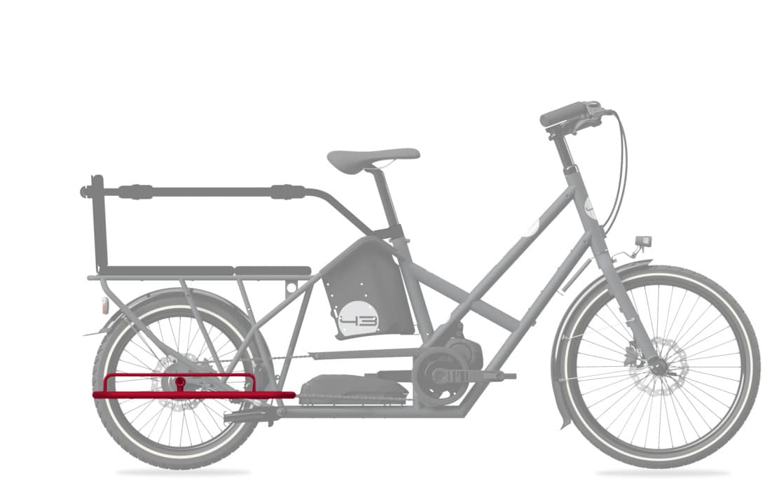 Step in accessory longtail bike43 cargobike vélo cargo lastenrad